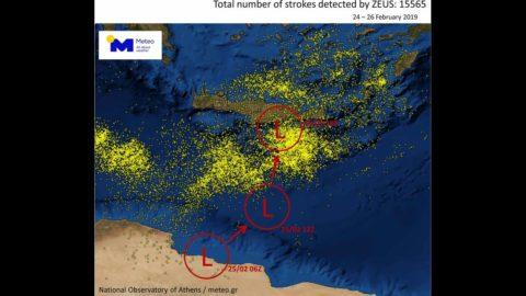 «Πνίγηκε» από την ισχυρή κακοκαιρία η Κρήτη: Επί 41 ώρες έβρεχε ασταμάτητα