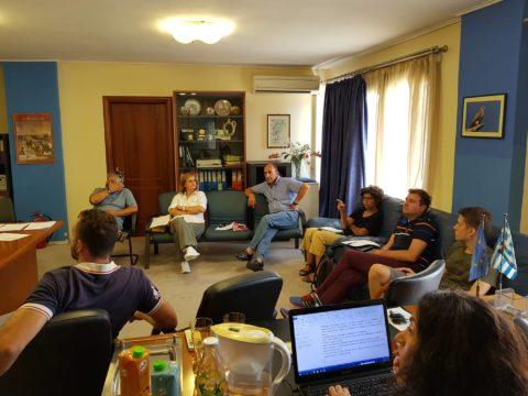 Η Υπηρεσία  ERMIS-F συναντά  Περιβαλλοντικές Ομάδες της Λέσβου